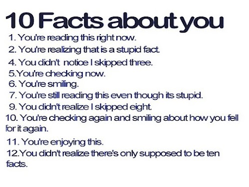 These 10 facts about yourself have been brought to you by the