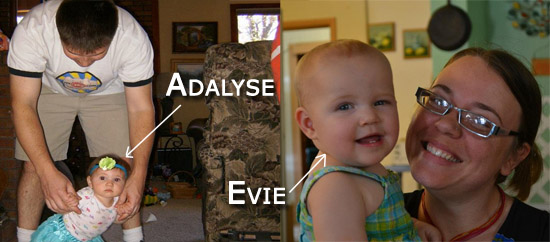 Adalyse and Evie, our new nieces