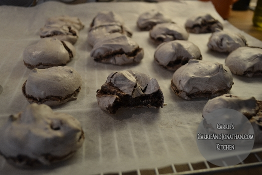 Chewy Chocolate Meringue cookie recipe