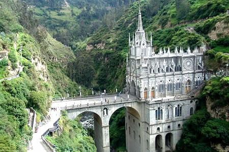 Las Lajas Cathedral in southern Colombia