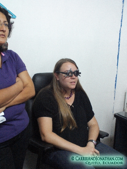 Getting new glasses in Quito, Ecuador