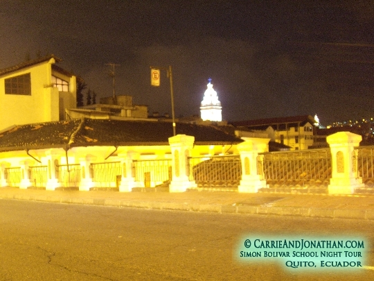 Night tour of Quito, Ecuador: View from the street