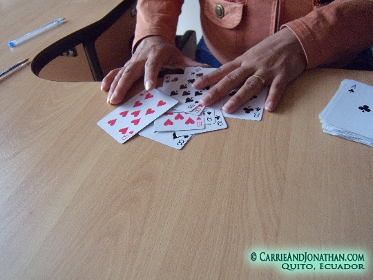 Playing Cuarenta in Quito, Ecuador