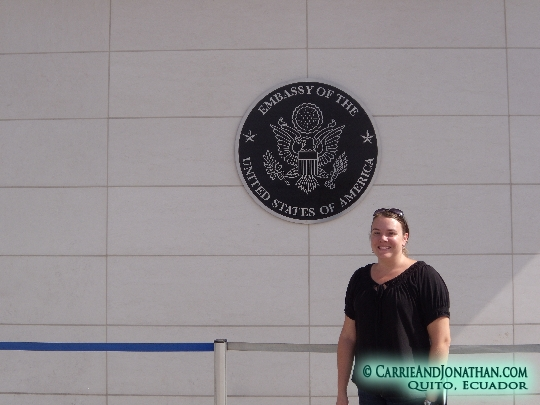 Visiting the US Embassy in Quito, Ecuador