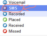Google Voice - Incoming text/SMS messages