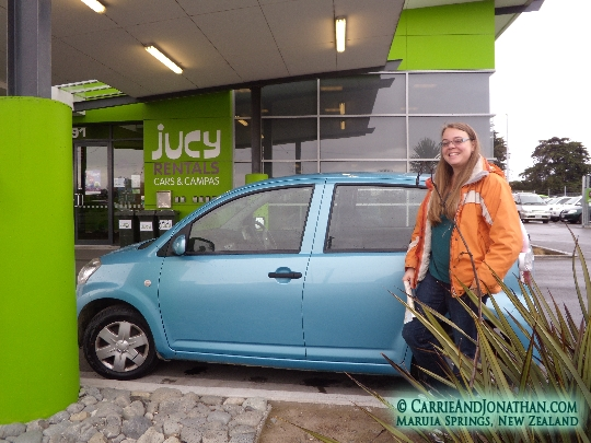 Jucy Rental car hire in New Zealand