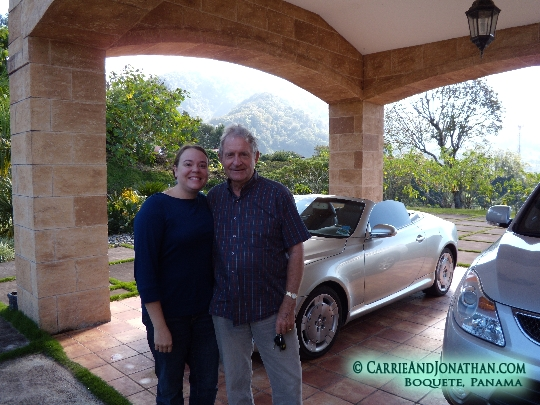 Carrie and Tom at the Castle in Boquete, Panama