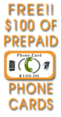 Get $100 in free calling cards