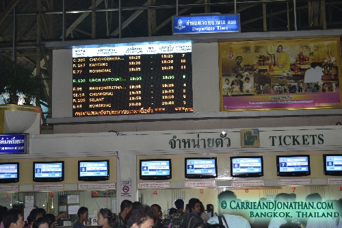 Bangkok to Chiang Mai night train Thailand
