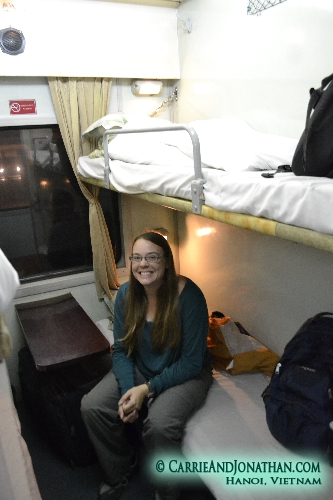 Night Train Hanoi to Hue Vietnam