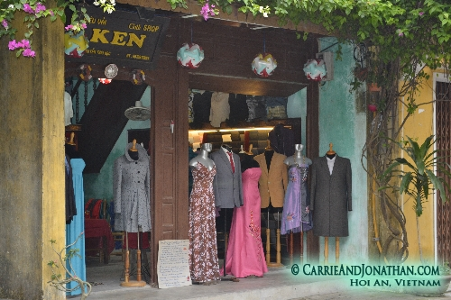 Hoi An, Vietnam clothing shop
