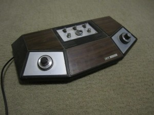 Pong was a game played with paddles.  My parents got this at a time share.