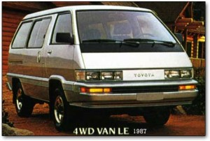 The old Toyota minivans were flat nosed.