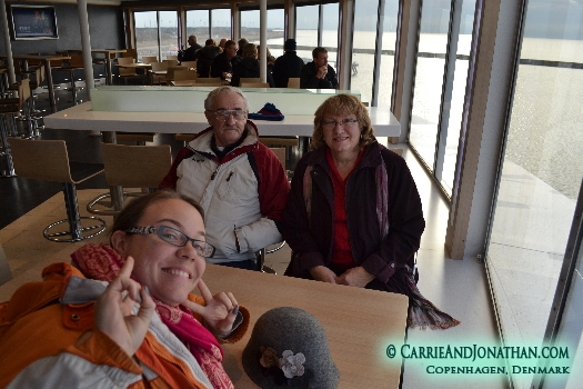 onboard the ferry
