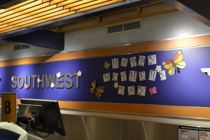 Southwest Airlines celebrates Mother's Day at the Portland Check-in Counter