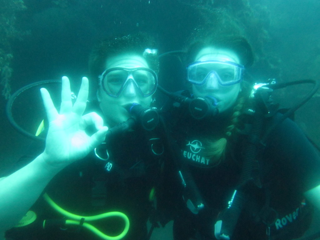 Carrie and Jonathan diving in Bali 2011.